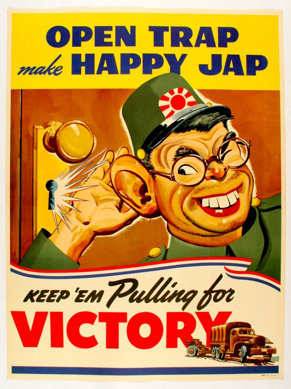 WWII_Posters_Safety_Security_Loose_Talk_Open_Trap_Happy_Jap_1LG